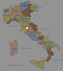 Italy, highlighting the area in question